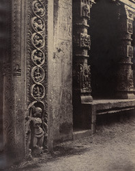 Basement of a monolith in the Raya Gopuram [Minakshi Sundareshvara Temple, Madurai]